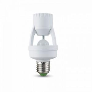 LED Infravörös mozgásérzékelő , fali , 360° , E27, fehér