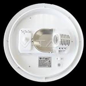 Lámpatest , E27-es foglalatú izzókhoz , mennyezeti , mozgásérzékelős , kerek , IP44