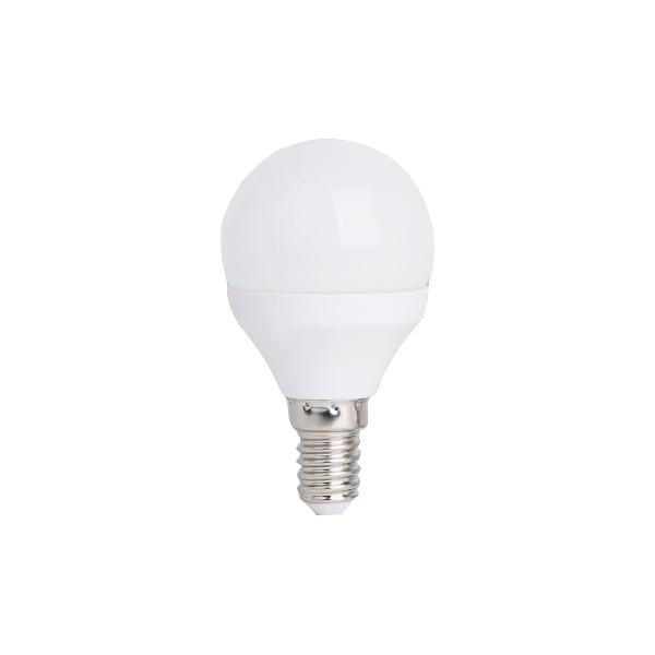 LED lámpa , égő , körte , E14 foglalat , 5,5 Watt , 180° , meleg fehér