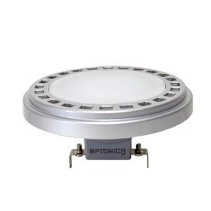 LED lámpa , 12V DC , AR111 foglalat , 15 Watt , 120° , természetes fehér