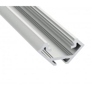 Alumínium sarok profil LED szalaghoz , 1 méter  , MATT fedővel, CORNER