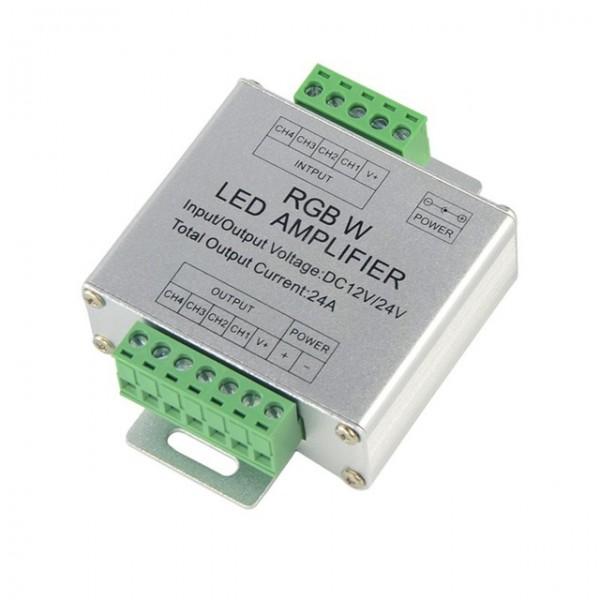 Jelerősítő , RGBW szalagokhoz , 288 Watt , 4x6 Amper