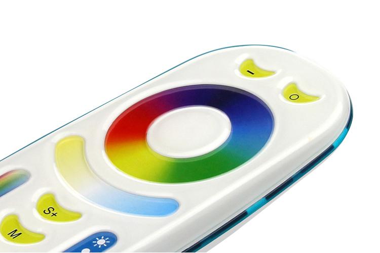 RGB és fehér távirányító , állítható fehér színárnyalat , Dimmer , 4 csoport (zóna) , group control