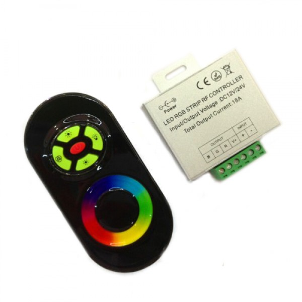 RGB távirányító , dimmer és vezérlő egy csomagban , fekete