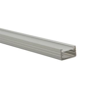 Alumínium U profil LED szalaghoz , 1 méter , MATT fedővel , SLIM