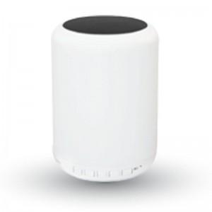 LED lámpa , hordozható , beépített hangszóróval , Bluetooth , színes hangulatvilágítás , 5W , fekete érintő felülettel