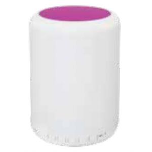 LED lámpa , hordozható , beépített hangszóróval , Bluetooth , színes hangulatvilágítás , 5W , pink érintő felülettel