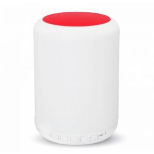 LED lámpa , hordozható , beépített hangszóróval , Bluetooth , színes hangulatvilágítás , 5W , piros érintő felülettel