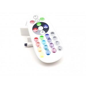 Dimmer , RGB , Távirányítós , 12V (6A/72W) , 24 gombos , infravörös érzékelővel