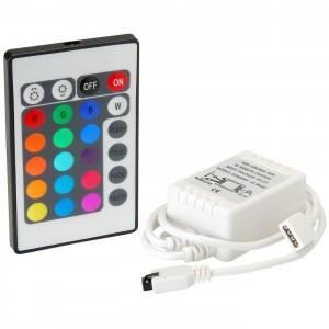 Dimmer , RGB , Távirányítós , 12V (6A/72W) , 24 gombos