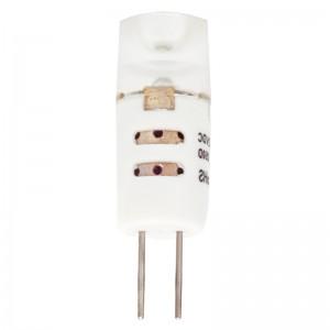 LED lámpa , 12V DC , G4 foglalat , 1,2 Watt , Cree , 300° , lencsés , hideg fehér