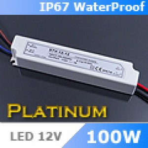 LED tápegység , 12 Volt , 100 Watt , 8,5A , kültéri , IP67 , Platinum