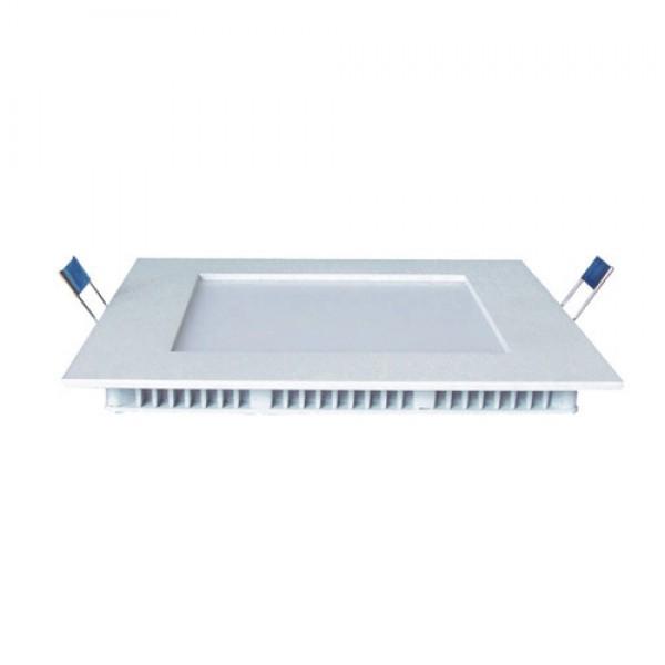LED panel , 12W , süllyesztett , négyzet , természetes fehér