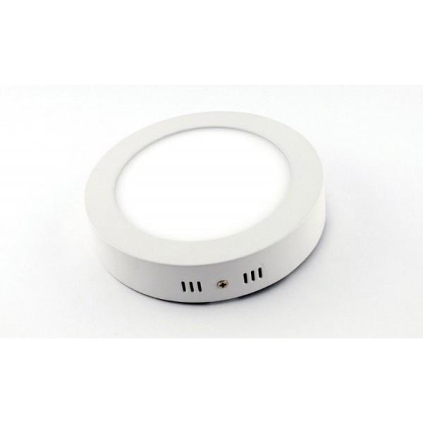 LED panel , 24W , falon kívüli , kerek , hideg fehér
