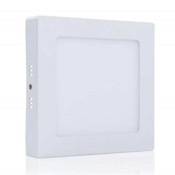 Dimmelhető LED panel , 18W , falon kívüli , négyzet , meleg fehér