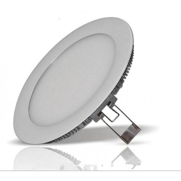 LED panel , 6W , süllyesztett , kerek , természetes fehér