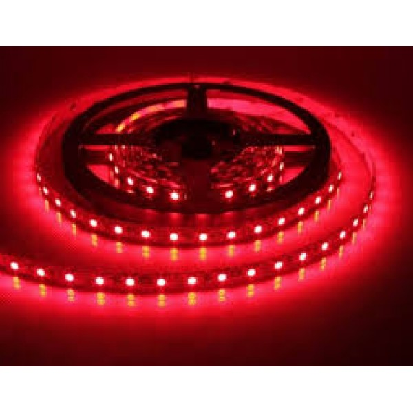 LED szalag , 3528 , 60 led/m , 3,6/m , piros