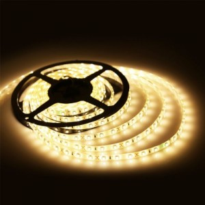 LED szalag , 3528 , 60 led/m , 3,6 Watt/m , meleg fehér , V-TAC