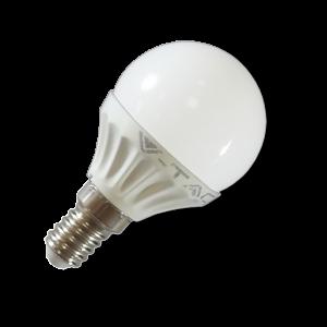LED lámpa , égő , körte , E14 foglalat , 4 Watt , 180° , hideg fehér
