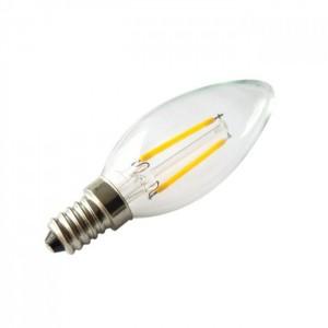 LED lámpa , égő , izzószálas hatás , gyertya , E14 foglalat , 4 Watt , 300° , meleg fehér , dimmelhető, KIFUTÓ