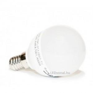 LED lámpa , égő , körte , E14 foglalat /x 3 Watt , 180° , meleg fehér