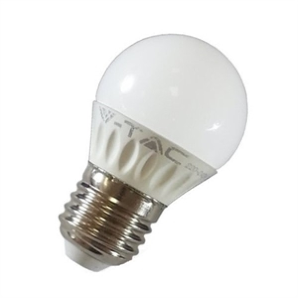 LED lámpa , égő , körte , E27 foglalat , 4 Watt , meleg fehér