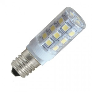 LED lámpa , égő , kukorica , E14 foglalat , 3 Watt , 360° , meleg fehér