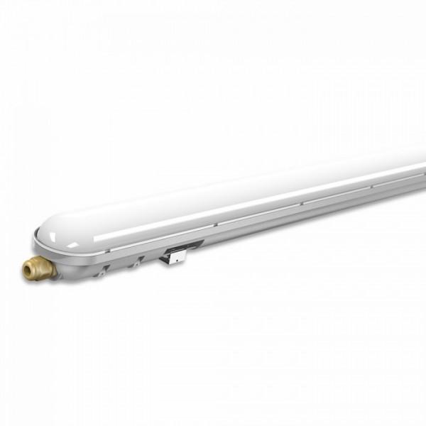 IP65 por és páramentes LED lámpatest, 120cm, 36 Watt, hideg fehér