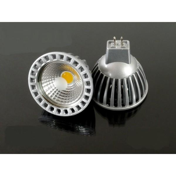 LED lámpa , 12V DC , MR16 foglalat , 6 Watt , 50° , hideg fehér