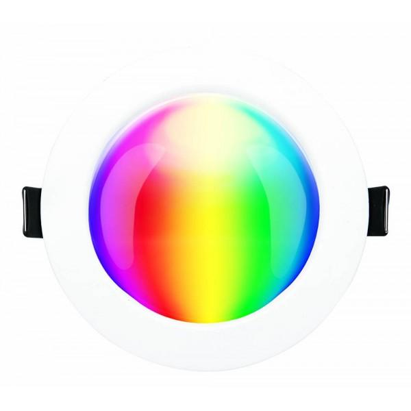 LED panel , 12W , süllyesztett , kerek , dimmelhető , RGB , RGBW , állítható fehér színárnyalat , CCT