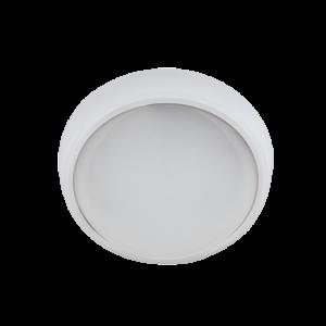 LED panel , 12W , falon kívüli , kerek , természetes fehér , IP54
