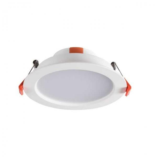 LED panel , LITEN , 8W , süllyesztett , kerek , természetes fehér , vízvédett , IP40/IP20