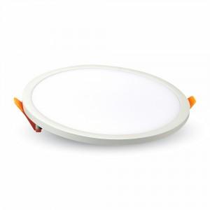 LED panel , Slim , keret nélküli , 16 W , süllyesztett , kerek , természetes fehér