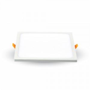 LED panel , Slim , keret nélküli , 8 W , süllyesztett , négyzet , természetes fehér