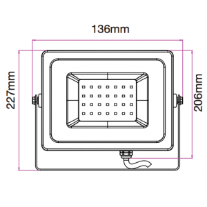 LED reflektor , 30 Watt , Classic , RGB , RF távirányítóval