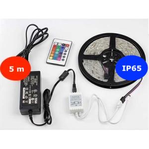 5 m KÜLTÉRI RGB LED szett 24 gombos távirányítóval -60LED/m