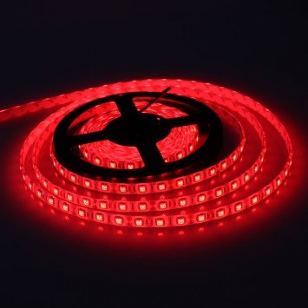 LED szalag , kültéri , 3528 , 60 led/m , 3,6 Watt/m , piros