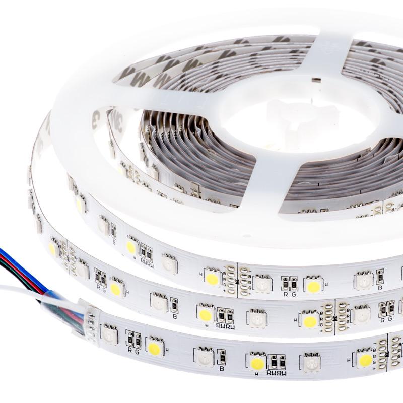 LED szalag , 5050 , 60 led/m , 10,8/m , RGBW , W = hideg fehér méteres