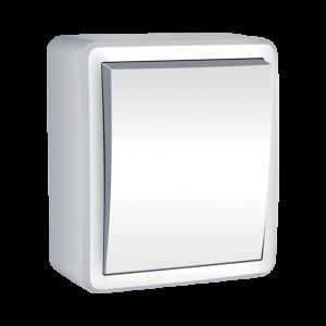 Falon kívüli IP44 védettségű 1 Pólusú kapcsoló fehér