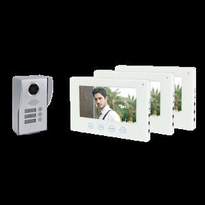 Elmark 3 lakásos WiFI videó kaputelefon 3 monitorral - 195076