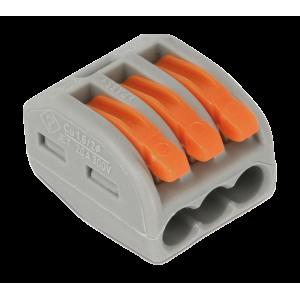 3 vezetékes 1 pólusú gyorscsatlakozó sodrott vezetékhez 300V 20A  4mm2