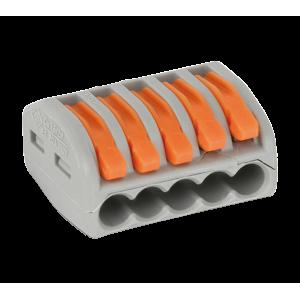 5 vezetékes 1 pólusú gyorscsatlakozó sodrott vezetékhez 300V 20A  4mm2