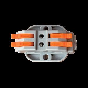 4 vezetékes 2 pólusú gyorscsatlakozó toldó sodrott vezetékhez 600V 32A 4mm2