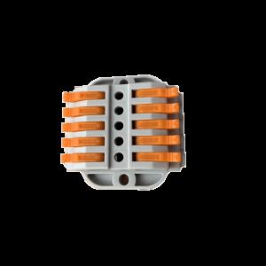 10 vezetékes 5 pólusú gyorscsatlakozó toldó sodrott vezetékhez 600V 32A 4mm2
