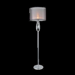 Elmark MERY állólámpa króm színű, áttetsző szövetbúrával- MERY lámpacsalád