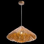 Woody1 függesztett lámpatest, rattan/fa anyagból