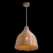 Woody2 függesztett lámpatest, rattan/fa anyagból