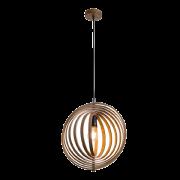 WoodyR függesztett lámpatest, rattan/fa anyagból