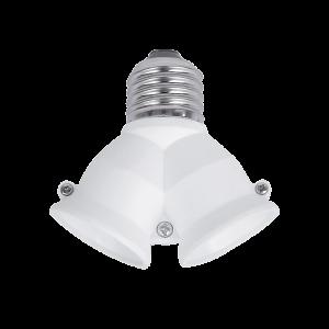 Foglalat adapter E27-2xE27