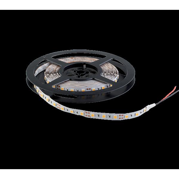 LED szalag LED300 5050 14,4W/M 12V/DC IP20 60LED/m Meleg Fehér , 5 MÉTER (1 TEKERCS)
